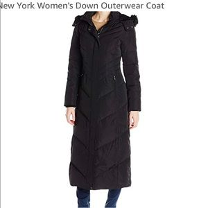 Jones New York Women's Long Maxi Down Coat Black